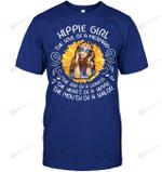 GearLaunch Apparel Unisex Short Sleeve Classic Tee / Deep Royal / S M041219  Hippie  Hippie Girl the soul of a mermaid