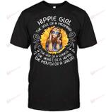 GearLaunch Apparel Unisex Short Sleeve Classic Tee / Black / S M041219  Hippie  Hippie Girl the soul of a mermaid