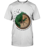 GearLaunch Apparel Unisex Short Sleeve Classic Tee / White / S M120618  Hippie  Freedom Compass