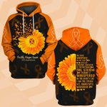 Hihi Store hoodie S / Hoodie Faith Hope Love MS Awareness 081908