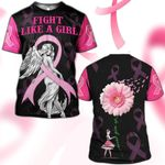 Hihi Store hoodie S / T Shirt Breast Cancer Awareness Fight Like a Girl 081203