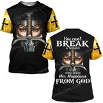 Hihi Store hoodie S / T Shirt Lord Jesus You can't break a woman who seek her happiness from God ALL OVER PRINTED SHIRTS
