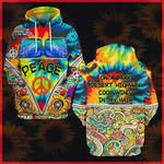 Hihi Store hoodie S / Hoodie Hippie On a dark desert highway cool wind in my hair All Over Printed Shirts 040302