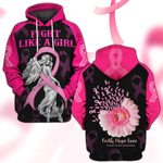 Hihi Store hoodie S / Hoodie Breast Cancer Awareness Fight Like a Girl 081202