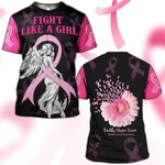 Hihi Store hoodie S / T Shirt Breast Cancer Awareness Fight Like a Girl 081202