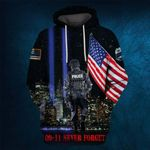 Hihi Store hoodie S / Hoodie Us Police Officer 0911 Never Forget All Over Printed Shirts 080702