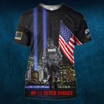 Hihi Store hoodie S / T Shirt Us Police Officer 0911 Never Forget All Over Printed Shirts 080702