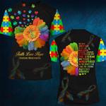 Hihi Store hoodie S / T Shirt Faith Hope Love Autism Awareness 081933