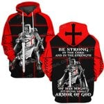 Hihi Store hoodie S / Hoodie God Jesus Be strong in the Lord ALL OVER PRINTED SHIRTS