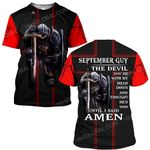 Hihi Store hoodie S / T Shirt Jesus God September guy The devil saw me until I said Amen ALL OVER PRINTED SHIRTS