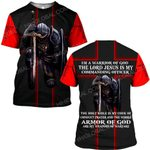 Hihi Store hoodie S / T Shirt / Red The Lord Jesus is my commanding officer  ALL OVER PRINTED SHIRTS