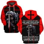 Hihi Store hoodie S / Hoodie / Red The Lord Jesus is my commanding officer  ALL OVER PRINTED SHIRTS