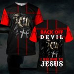 Hihi Store hoodie S / T Shirt Back of devil  I belong to Jesus 082905