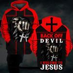 Hihi Store hoodie S / Hoodie Back of devil  I belong to Jesus 082905