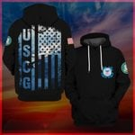 Hihi Store hoodie S / Hoodie Us Coast Guard I walked the walk in dungarees and boondockers All Over Printed Shirts 061110
