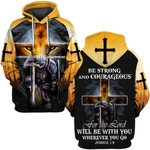 Hihi Store hoodie S / Hoodie Be strong and courageous for the Lord 090403