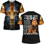 Hihi Store hoodie S / T Shirt Thank you God for being my savior  ALL OVER PRINTD SHIRTS 090605