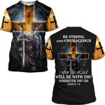 Hihi Store hoodie S / T Shirt Be strong and courageous for the Lord 090403