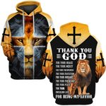 Hihi Store hoodie S / Hoodie Thank you God for being my savior  ALL OVER PRINTD SHIRTS 090605