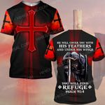 Hihi Store hoodie S / T Shirt Jesus God will cover you with his feathers and under his wings  ALL OVER PRINTED SHIRTS