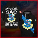 Hihi Store hoodie S / Hoodie US Veterans Strategic Air Command And God said Let there be SAC 061306
