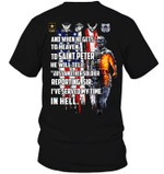 GearLaunch Apparel Unisex Short Sleeve Classic Tee / Black / S And when he gets to heaven Veteran shirt