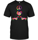 GearLaunch Apparel Unisex Short Sleeve Classic Tee / Black / S M010419 hippie hippie heart dogs