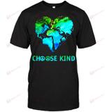 GearLaunch Apparel Unisex Short Sleeve Classic Tee / Black / S M010719 Toan hippie choose kind world map