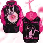 Hihi Store hoodie S / Hoodie Faith Hope Love Breast Cancer Awareness 081305