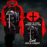 Hihi Store hoodie S / Hoodie I bow a none other than lord Jesus Christ 082901