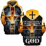 Hihi Store hoodie S / Hoodie Jesus I'm no longer a slave to fear I am a Child of God  ALL OVER PRINTD SHIRTS