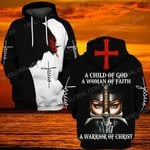 Hihi Store hoodie S / Hoodie Jesus God  a warrior of Christ  ALL OVER PRINTED SHIRTS