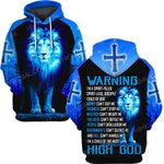Hihi Store hoodie S / Hoodie Jesus God Warning I'm a pririt-filled  ALL OVER PRINTD SHIRTS