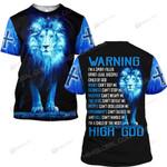 Hihi Store hoodie S / T Shirt Jesus God Warning I'm a pririt-filled  ALL OVER PRINTD SHIRTS