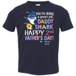 CustomCat T-Shirts Navy / 2T 2nd Father's Day Custom Rabbit Skins Toddler Jersey T-Shirt