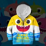 Hihi Store hoodie Toddler 2T / Zip Hoodie Baby Shark All Over Printed Shirts