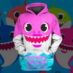Hihi Store hoodie XS / Hoodie Mommy Shark All Over Printed Shirts 030401