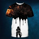 Hihi Store hoodie S / T Shirt Firefighter  All Over Printed Shirts 052501