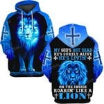 Hihi Store hoodie S / Hoodie Jesus God is living on the inside roaring like a lion  ALL OVER PRINTED SHIRTS