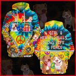 Hihi Store hoodie S / Hoodie A Girl and her Pitbulls  All Over Printed Shirts 041003