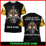 Hihi Store hoodie S / T Shirt Jesus God I fell in love with the man who died for me Personalized Name  ALL OVER PRINTED SHIRTS 006