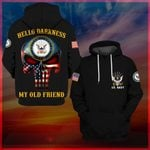 Hihi Store hoodie S / Hoodie US Navy Hello darkness my old friend All Over Printed Shirts 062604