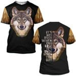 Hihi Store hoodie S / T Shirt Wolf It's over when you quit ALL OVER PRINTED SHIRTS 090501