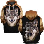 Hihi Store hoodie S / Hoodie Wolf It's over when you quit ALL OVER PRINTED SHIRTS 090501