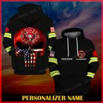 Hihi Store hoodie S / Hoodie Us Firefighter Personalized Name ALL OVER PRINTED SHIRTS 112608