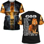 Hihi Store hoodie S / T Shirt Jesus Don't Give Up ALL OVER PRINTD SHIRTS