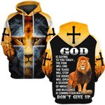 Hihi Store hoodie S / Hoodie Jesus Don't Give Up ALL OVER PRINTD SHIRTS