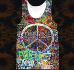 Hihi Store hoodie XXS / Tank Top Hippie All Over Printed Shirts 040403