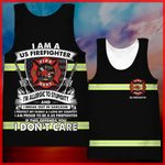 Hihi Store hoodie XXS / Tank Top US Firefighter All Over Printed Shirts 040308