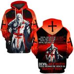 Hihi Store hoodie S / Hoodie Jesus God Devil get out They blood of Jesus to against you  ALL OVER PRINTED SHIRTS